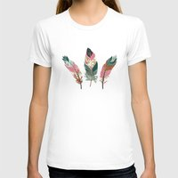feathers T-shirts featuring Feathers  by Juliana Zimmermann