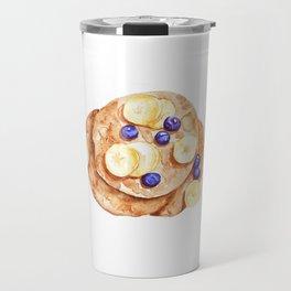 Pancakes breakfast Watercolor Travel Mug