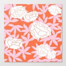 Zen Floral _ pink& coral Canvas Print