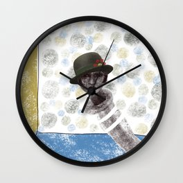 The Hesitant Handpuppet Wall Clock