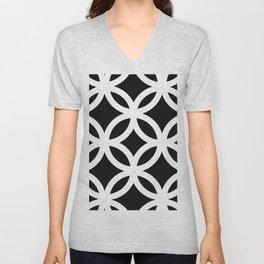 Black pattern Unisex V-Neck