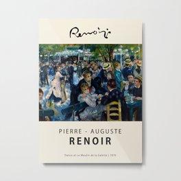 Pierre Auguste Renoir - Dance at Le Mo - Exhbition Poster - Art Print - Renoir Vintage Poster Prints Metal Print