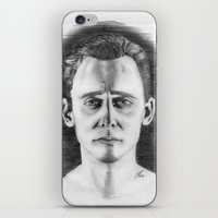 tom hiddleston iPhone & iPod Skins featuring Tom Hiddleston by LilKure