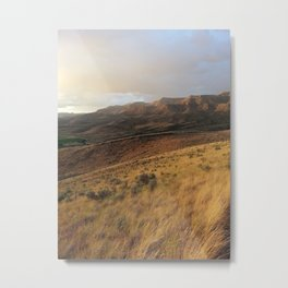 Getting late on the painted hills Metal Print