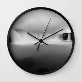 Godafoss waterfall in Iceland Wall Clock