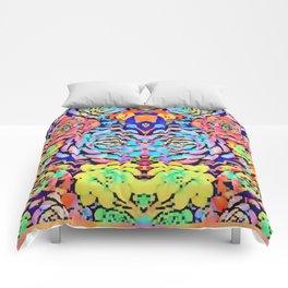 Mirrored 8bit succulent plants Comforters