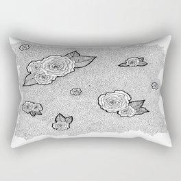 Dotted Floral Rectangular Pillow