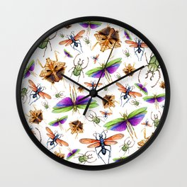 Vibrant Insect Swarm Wall Clock