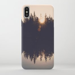 Wooded Lake Reflection  - Nature Photography iPhone Case