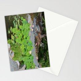 Lotus pond garden Stationery Cards