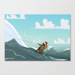 Rock Climbing Man Canvas Print