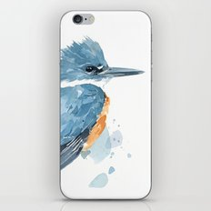 Belted Kingfisher watercolor iPhone & iPod Skin