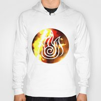 zuko Hoodies featuring prince of the flame by Jon Holloway