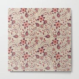 Elegant decorative flower texture pattern Metal Print