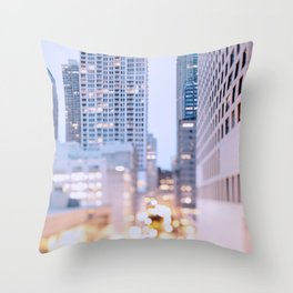 Pastel Nights Throw Pillow