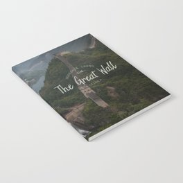 A different view of The Great Wall of China Notebook