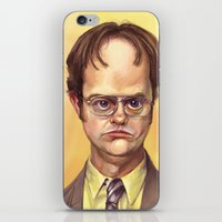 dwight schrute iPhone & iPod Skins featuring Mr. Dwight K Schrute by Ben Anderson