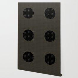 """""""Grey & Polka dots central circle pattern"""" Wallpaper"""