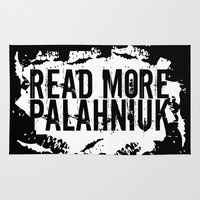 chuck Area & Throw Rugs featuring Read More Palahniuk  |  Chuck Palahniuk by Silvio Ledbetter