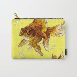 PRIZE WINNING BLACK-GOLDFISH YELLOW ART Carry-All Pouch