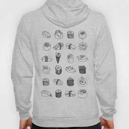 Sushi pattern (black and white version) Hoody