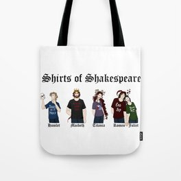 Shirts of Shakespeare Tote Bag