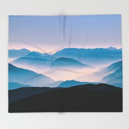 Pale Morning Light Throw Blanket