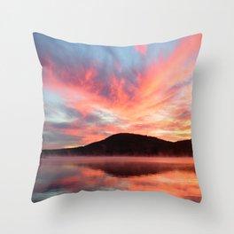 Glory: A Spectacular Sunrise Throw Pillow