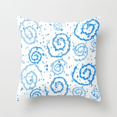 Abstract Blue Squigglisciousness Throw Pillow