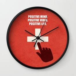 Lab No. 4 - Positive Mind Positive Vibes Positive Life Corporate Start-up Quotes Wall Clock