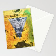 what you do ? Stationery Cards