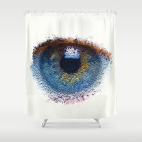 iris Shower Curtains featuring Iris by Paul Kimble