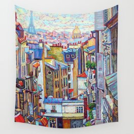 Montmartre View Wall Tapestry