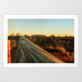 Straight ahead Art Print