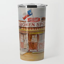 The Broken Spoke - Austin's Legendary Honky-Tonk Watercolor Painting Travel Mug