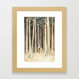 Snow & Rose in the Forest Framed Art Print