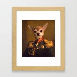 Chiwawa General portrait   Cute Kawaii Framed Art Print
