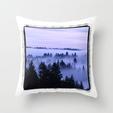 BremertonMorningFog Throw Pillow
