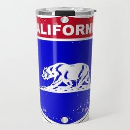 California Interstate Sign Travel Mug