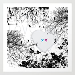 Love in air Art Print