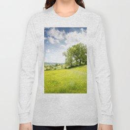 Idyllic Cotswold Summer Landscape Long Sleeve T-shirt
