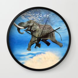 Rajan The Swimming Elephant Wall Clock