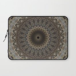 Mandala in warm brown and gray tones Laptop Sleeve