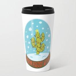 Cactus Snow Globe Travel Mug