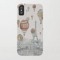 paris iPhone & iPod Cases featuring Voyages Over Paris by David Fleck