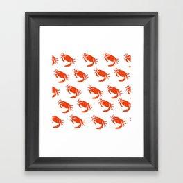 orange crabs Framed Art Print