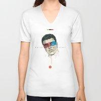 superheroes V-neck T-shirts featuring Superheroes SF by Blaine Fontana