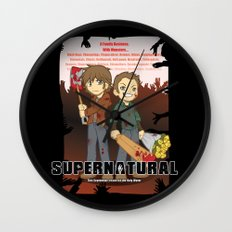 Supernatural - Goin to the Winchesters Wall Clock