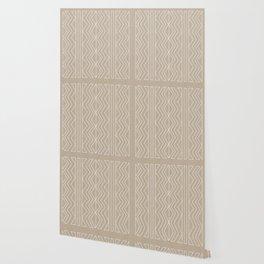 Cream Linen Beige Arrows Pattern Wallpaper