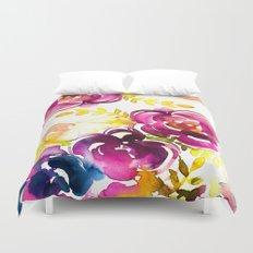 Purple Roses Duvet Cover